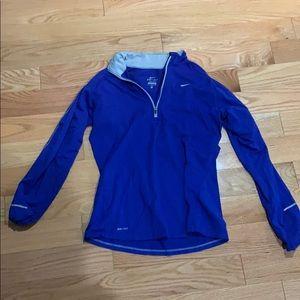 Nike royal blue quarter zip